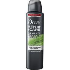 Дезодорант-антиперспирант мужской DOVE спрей Свежесть минералов и шалфея, 150 мл