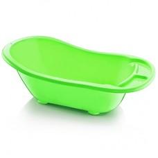 Ванна детская пластмассовая Широкая с водостоком (салатовая) 55 л, 53х92х28 см