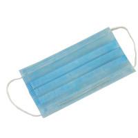 Маски медицинские одноразовые 3-слойные с носовым фиксатором, цвет голубой, 50 шт