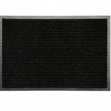 Коврик ворсовый ребристый на ПВХ основе Комфорт, черный, 1200*1800*8 мм