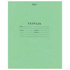 Тетрадь Зелёная обложка HATBER, офсет, клетка с полями, 18 листов