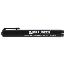 Маркер перманентный (нестираемый) BRAUBERG Classic, черный, круглый наконечник 3 мм