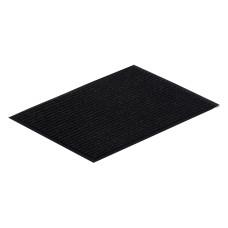 Коврик ворсовый ребристый на ПВХ основе Стандарт, черный, 1200*1800*8 мм