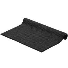 Коврик ворсовый ребристый на ПВХ основе Стандарт, черный, 900*1500*8 мм