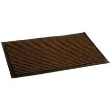 Коврик ворсовый ребристый на ПВХ основе Стандарт, коричневый, 900*1500*8 мм