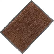 Коврик ворсовый ребристый на ПВХ основе Стандарт, коричневый, 1200*1800*8 мм