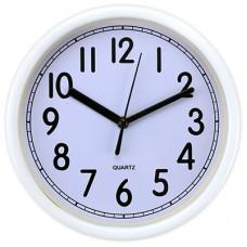 Часы настенные пластмассовые Бланко (цвет белый), циферблат белый, д19,5х4 см