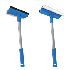 Окномойка Мамонтенок с насадкой 20 см и телескопической ручкой 44 см, голубая
