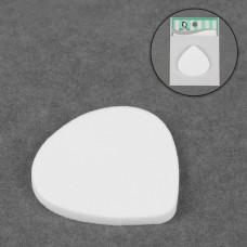Спонж для нанесения косметики Лепесток, широкий, цвет белый