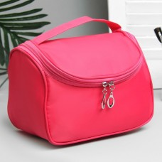 Косметичка-сумочка на молнии Однотонная, цвет малиновый