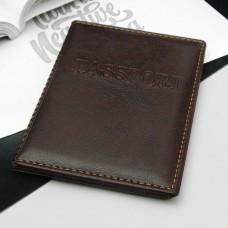 Обложка для паспорта Passport, прошитый, цвет бордовый