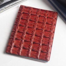 Обложка для паспорта Кайман, цвет красный