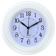 Часы настенные пластмассовые Гармония (цвет белый), циферблат белый, д15х4 см