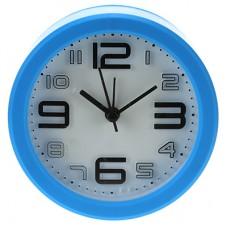 Часы-будильник Техно-2 (цвет голубой) циферблат белый, 10х3,8 см