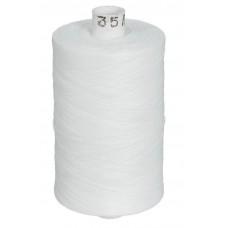Нитки швейные цвет белый, 35 ЛЛ 2500 м, 001 КН