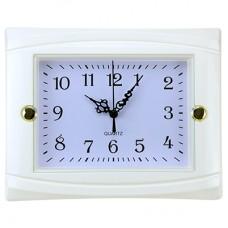 Часы настенные пластмассовые Студентка (цвет белый), циферблат белый, 22,5х18х3,5 см