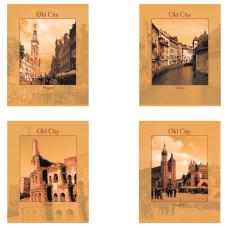 Тетрадь STAFF Города, офсет №2 ЭКОНОМ, клетка, обложка картон, 96 листов