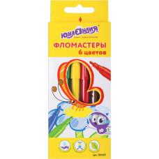Фломастеры Юнландия Экзотика, вентилируемый колпачок, 6 цветов