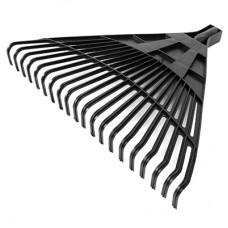 Грабли веерные 20-зубые пластмассовые, с резьбой, цвета микс, 45х38 см