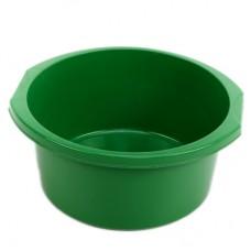 Таз круглый пластмассовый с ручками Эконом, цвет зеленый, 12 л