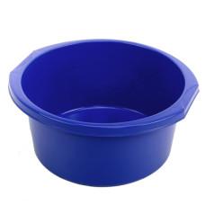 Таз круглый пластмассовый с ручками Эконом, цвет синий, 12 л