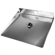 Лопата для снега алюминиевая 3-х бортная, 46х35 см, s1,5 мм
