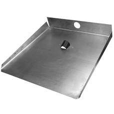 Лопата для снега алюминиевая 3-х бортная, 46х42,5 см, s1,5 мм