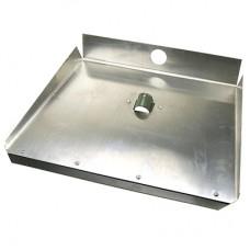 Лопата для снега алюминиевая 3-х бортная, металлическая накладка, 46х35 см, s1,5 мм