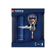 Подарочный набор Gillette (Джилет) Fusion (бритва с 1 сменной кассетой + гель для бритья Ultra Sensitive 75 мл)
