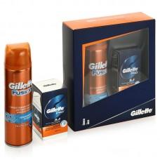 Подарочный набор Gillette (Джилет) Fusion (гель для бритья Fusion Hydra gel, 200 мл + бальзам после бритья Pro 3в1, 50 мл)