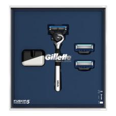 Подарочный набор Gillette (Джилет) Fusion ProShield (бритва Fusion5 ProShield + 2 кассеты + магнитная подставка)