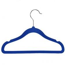 Вешалка-плечики Сарафан пластмассовый корпус с бархатным покрытием, цвет синий, р 38-40, 29х21 см