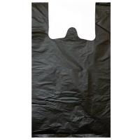Пакет полиэтиленовый майка черный, 28х50 см