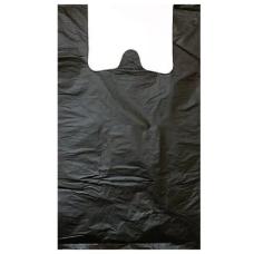Пакет-майка ПНД, цвет чёрный, 28х50 см