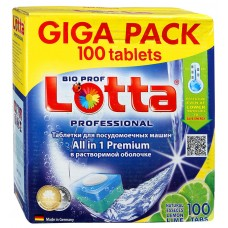 Таблетки для посудомоечных машин Lotta (Лотта) All in 1 GIGA PACK, 100 шт