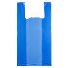 Пакет-майка ПНД, цвет синий, 24х44 см