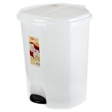Ведро для мусора с педалью пластмассовое в комплекте с внутренним ведром, 18 л, (цвет белый)