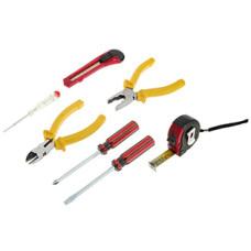 Набор инструмента Контрфорс (бокорезы, плоскогубцы, нож, рулетка, отвертки SL6/PH2x100)