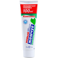 Зубная паста Новый Жемчуг Легкий аромат мяты 100 мл (136 г)