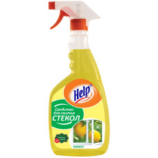 Средство для мытья стекол Help (Хелп) Лимон, курок, 500 мл