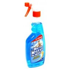 Моющее для стекла Мистер Мускул со спиртом, курок (синий) 500 мл