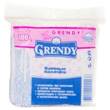 Ватные палочки Grendy (Гренди) пакет, 100 шт