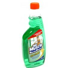 Моющее для стекла Мистер Мускул с нашатырным спиртом, сменная бутылка (зеленый) 500 мл