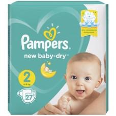 Подгузники Pampers (Памперс) New Baby Mini 2 (4-8 кг), 27 шт
