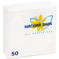 Салфетки Мягкий Знак однослойные 50 листов