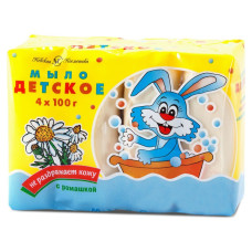 Мыло туалетное Детское с экстрактом ромашки 4 шт по 100 г