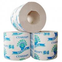 Туалетная бумага 1-слойная Стандарт 54 Островская