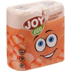 Туалетная бумага 2-слойная JOY Eco (Джой Эко) персиковая, 4 рулона