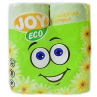 Туалетная бумага 2-слойная JOY Eco (Джой Эко) Салатовая, 4 рулона