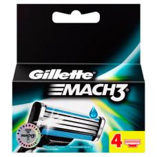 Кассеты для бритья Gillette Mach 3 (Джилет Мак 3) (4 шт)